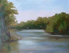 "Daily+Paintworks+-+""Reservoir""+-+Original+Fine+Art+for+Sale+-+©+Carol+Josefiak"