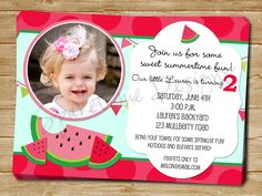watermelon party invite