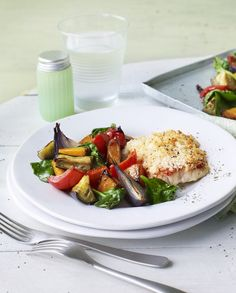 A really simple baked cod with roasted vegetables will please all the family. From Eat Well for Less.