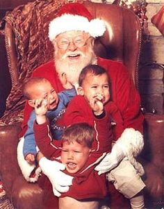 making these kids cry is the most fun Santa has had all season...