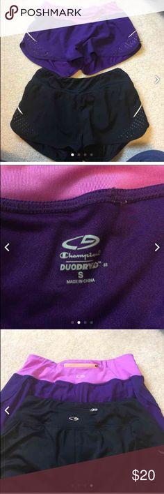 Champion C9 run shorts bundle. Sz SM Great shorts. EUC. Both have liner and no stains. Champion Shorts