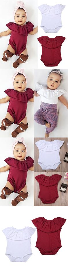 Baby Girls Clothing: Newborn Baby Girls Romper Jumpsuit Bodysuit Clothes Outfits Sunsuit Us Stock -> BUY IT NOW ONLY: $6.79 on eBay!