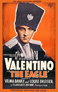 """Rudolph Valentino Poster for """"The Eagle"""" 1925"""