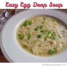 Easy Egg Drop Soup ~ www.thehappyhealthfreak.com ~ #keto #lowcarb #glutenfree
