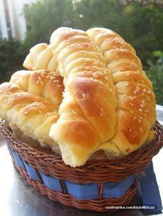 Peciva s maslacem — Coolinarika You are in the right place about Mace Albanian Recipes, Croatian Recipes, Pastry Recipes, Baking Recipes, Dessert Recipes, Kiflice Recipe, Macedonian Food, Bread Shaping, Kolaci I Torte