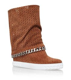 90Mm Suede Wedge Sneakers, Camel