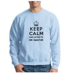 Amazon.com: Keep Calm and Listen to One Direction 1D Crewneck Sweatshirt Tour UK British-Irish Boy Band Niall Liam Zayn Louis Harry Sweatshirt: Clothing