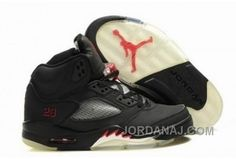 20307e0620ff Buy New Black Varsity Red Kids Air Jordan 5 Sports Shoes Shop Jordan Shoes  For Women