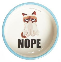 Grumpy Cat Food Bowl Nope * Check out this great product.(This is an Amazon affiliate link and I receive a commission for the sales)