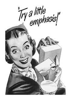 Sadly, the mind of another vintage housewife succumbs to 'excessive craftiness'! ~ 1949 Vim ad