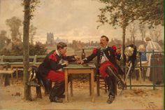 Regaling the Commander | Neuville Alphonse Marie de | oil painting  - Prices starting at $