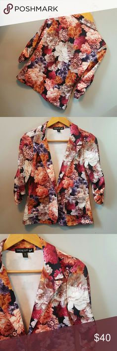 """NWOT Colorful floral blazer NWOT  Pretty floral print Chest - 17"""" Living Doll Jackets & Coats Blazers"""