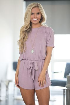 With a casual, relaxed style and comfortable material, this sweet romper is perfect for days of relaxing in the backyard! The sweet mauve color is simply perfect for spring, while the soft and slightl