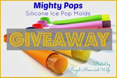 Frugal Mom and Wife: Mighty Pops by Sunsella - Silicone Ice Pop Molds Giveaway! (3/16 - 3/24)