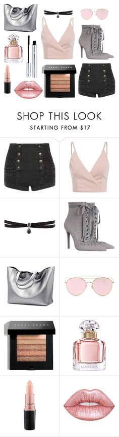 """Bez tytułu #45"" by mery-princess ❤ liked on Polyvore featuring Pierre Balmain, Fallon, Zimmermann, LMNT, Bobbi Brown Cosmetics, Guerlain, MAC Cosmetics, Lime Crime and 100% Pure"