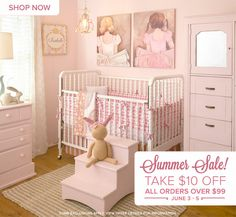 It's a Flash Summer SALE! Now thru Wednesday, save $10 on all orders over $99 and get adorable kid's wall art, personalized growth charts, table lamps for children, night lights, adhesive wall decals, murals, and more!