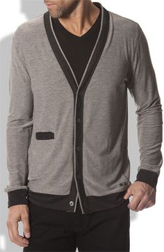 I know Brian hates the cardigan trend, but I think with a graphic tee this could look really cool. I like the dark edging. $89 #cardigan