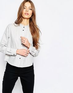 Image 1 ofASOS Casual Shirt With Frill Neck