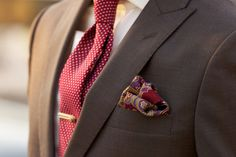 Red and Silver Pin Dot Tie - a must have style staple for the well-dressed man.
