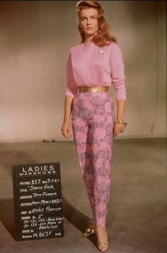*-* Ann-Margret in head-to-toe pink, befitting of the Rodgers and Hammerstein musical film State Fair.