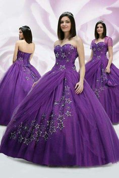 Custom quinceanera dresses in bright colors! These quince dresses can be made in any color. Lots of vestidos de quinceanera to choose from. Ball Gowns Prom, Ball Gown Dresses, 15 Dresses, Pretty Dresses, Evening Dresses, Wedding Dresses, Purple Quinceanera Dresses, Dress Flower, Quince Dresses