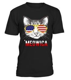 # Meowica Patriotic Cat American Flag .   Celebrate Independence Day with this perfect patriotic funny cat lover t-shirt. Show your patriotic pride this Fourth of July with Meowica Freedom T-Shirt. Enjoy your barbecue, sparklers, fireworks, block parties, parades, and social gatherings in style. Hilarious graphic of a cat waving stars and stripes of the American flag on a bald eagle will get laughs. Knock back your hotdogs in American pride. Makes the perfect gift for husbands, wives and…