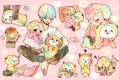 ✨fanarts de Jimin bottom ✨fotos bottom de Jimin ✨Jibooty ✨Jimin x B… Yoonmin Fanart, Jimin Fanart, Kpop Fanart, Bts Chibi, Anime Chibi, Vmin, Namjoon, Multimedia, Chibi Food