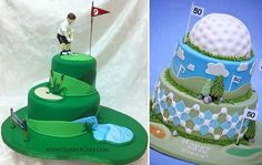 golf cakes by Quaint Cake amd the Royal Bakery