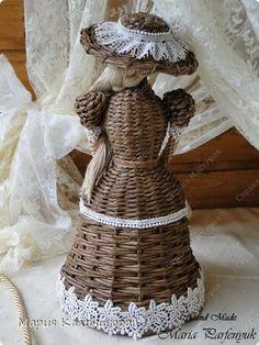 Поделка изделие Плетение Три девицы под окном   Бумага газетная Трубочки бумажные фото 6