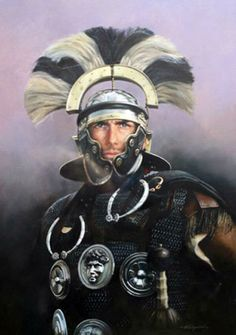 """Roman Centurion, Legio XX, 1st Century CE"" by Chris Collingwood"