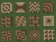 cool floor patterns for minecraft Minecraft Crafts, Art Minecraft, Minecraft Building Guide, Minecraft Structures, Minecraft Plans, Minecraft Houses Blueprints, Amazing Minecraft, Minecraft Decorations, Cool Minecraft Houses