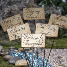 Rustic Fairy Garden Sign