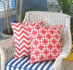 Pillow Coral Pillow Decorative Throw Pillow by PillowsByJanet