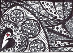 Black and White Abstract Art Print of Original Drawing Image 63 ...