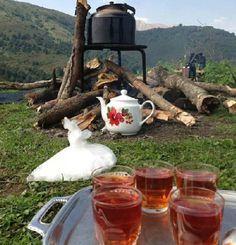 Near Caspian Sea - Iran هوا سرد است...یک استکان چای داغ مهمان من باش... کنار پنجره ی بخار گرفته، . چای  #naturalarearugs.comرفاقت من همیشه تازه دم است. نوش جان