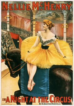 Nellie McHenry in A Night at the Circus, theatrical poster, 1893 by trialsanderrors, via Flickr