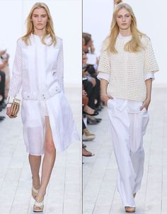 White summer layers at Chloe, S/S '12