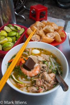 Banh Canh Cua is an amazing Vietnamese dish of thick rice and tapioca noodles with crab. It's a delicious Vietnamese street food. More details here: http://migrationology.com/2015/02/banh-canh-cua/