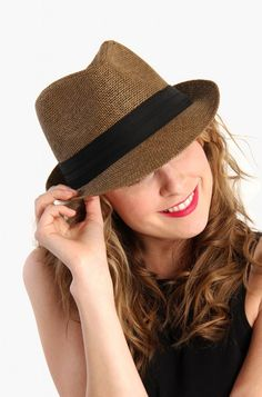 LoveMelrose.com From Harry & Molly | Hipster Fedora Hat - Brown