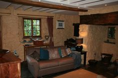Comfy lounge with woodburning stove