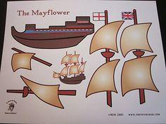 The Mayflower:{Kids Craft} Free printable.