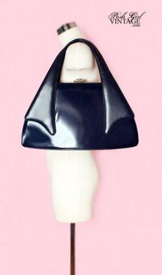 1950's Big Blue Francois Handbag