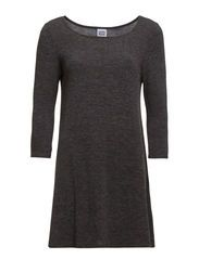 VMMARIKKA 3/4 BABYDOLL DRESS FF32 - Dark Grey Melange
