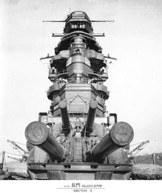 Japanese 16 in battleship Nagato in 1942: she was flagship of Japanese CinC Admiral Yamamoto at the time of Pearl Harbor.