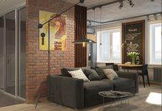 loft brick concrete tracking room