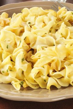 The Best Buttered Egg Noodles Recipe - creamy, flavorful, and done in only 10 minutes!