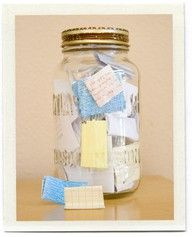 Cute Things Your Kids Say Memory Jar - write down all the cute/funny things your little one says and save them in a jar (you could label the jars by years). Gift to them when they're older.