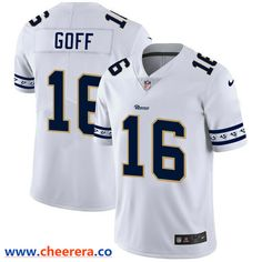 Men's Nike Los Angeles Rams #16 Jared Goff White 2019 New Vapor Untouchable Limited Jersey