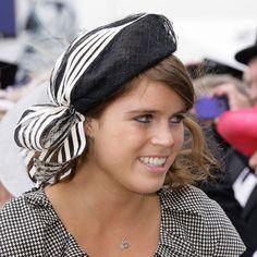 9. Princess Eugenie's Black and White Fascinator