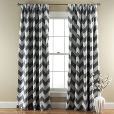 Lush Decor Chevron Blackout Curtains Panel Pair - Overstock™ Shopping - Great Deals on Lush Decor Curtains